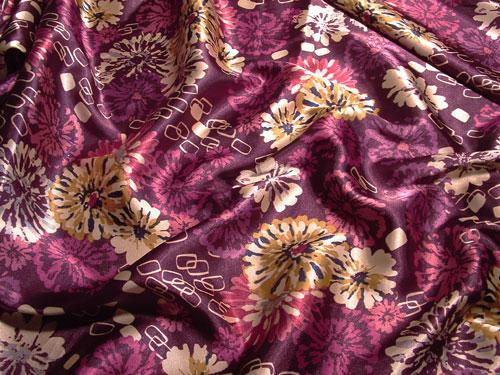 Violet Blossom fabric