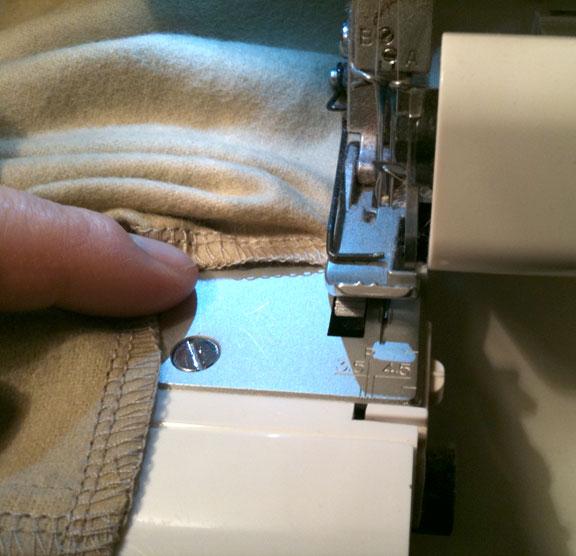Surging cover seams