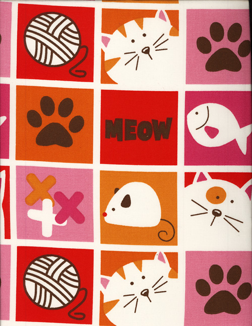 HEP CAT BOXES - COTTON cover/airbed set-hep cat box, fish, yarn, paw prints, meow, mouse, squares, red, orange, pink, brown, chocolate, cotton, natural fiber, pet bed, dog bed, cat bed, pet air bed, orthopedic support, veterinarian recommended, machine washable, machine dry slipcovers, apparel fabric, easy change, sustainable, eco-friendly, dog, cat, claw and nail proof, vet recommended, environmentally responsible, pet bed, dog bed, cat bed, natural nest, nesting area, long lasting, never compresses, replacement slipcovers, handcrafted, made in Michigan, made in USA, snazztastic, fashion covers, home decor, style, ARNO, Animal Rescue New Orleans