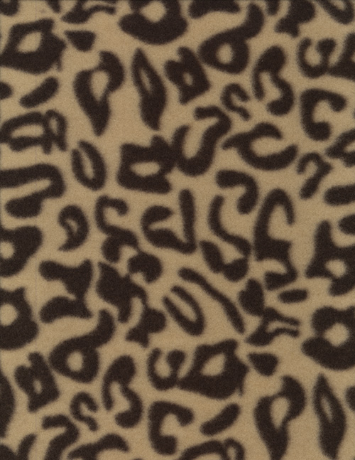 LEOPARD PRINT - FLEECE cover/airbed set