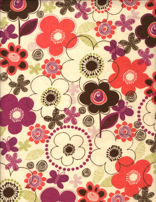 FLOWER DOODLE - FLANNEL cover/airbed set-browns, neutrals, florals, flowers, whimsical, neutrals, magenta, pink, chocolate, flannel, cotton, natural fiber, pet bed, dog bed, cat bed, pet air bed, orthopedic support, veterinarian recommended, machine washable, machine dry slipcovers, apparel fabric, easy change, sustainable, eco-friendly, dog, cat, claw and nail proof, vet recommended, environmentally responsible, pet bed, dog bed, cat bed, natural nest, nesting area, long lasting, never compresses, replacement slipcovers, handcrafted, made in Michigan, made in USA, snazztastic, fashion covers, home decor, style, ARNO, Animal Rescue New Orleans