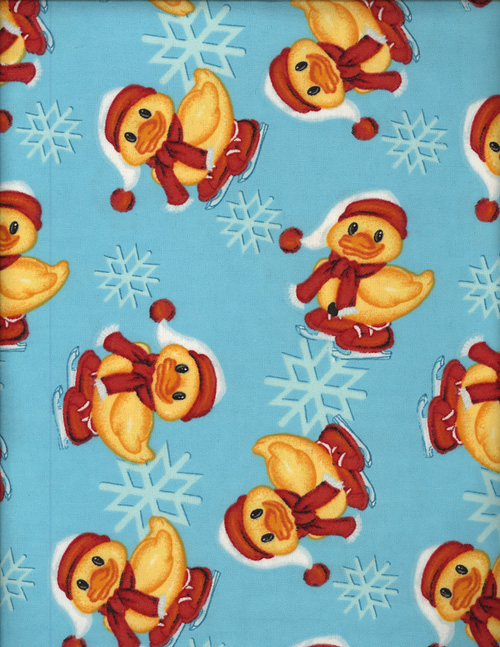 SNOW DUCKIES - FLANNEL cover/airbed set-snowflakes, duckies, winter, ice skates, ice skating, blue, cotton, natural fiber, pet bed, dog bed, cat bed, pet air bed, orthopedic support, veterinarian recommended, machine washable, machine dry slipcovers, apparel fabric, easy change, sustainable, eco-friendly, dog, cat, claw and nail proof, vet recommended, environmentally responsible, pet bed, dog bed, cat bed, natural nest, nesting area, long lasting, never compresses, replacement slipcovers, handcrafted, made in Michigan, made in USA, snazztastic, fashion covers, home decor, style, ARNO, Animal Rescue New Orleans