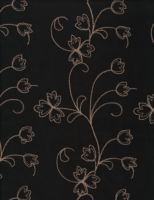EMBROIDERED FLOWERS on BLACK - SUEDECLOTH cover/airbed set-black, tan, flowers, floral, embroidered, embroidery, suede cloth, micro-suede, polyester, pet bed, dog bed, cat bed, pet air bed, orthopedic support, veterinarian recommended, machine washable, machine dry slipcovers, apparel fabric, easy change, sustainable, eco-friendly, dog, cat, claw and nail proof, vet recommended, environmentally responsible, pet bed, dog bed, cat bed, natural nest, nesting area, long lasting, never compresses, replacement slipcovers, handcrafted, made in Michigan, made in USA, snazztastic, fashion covers, home decor, style, ARNO, Animal Rescue New Orleans