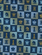 BLUE CHESS - COTTON cover/airbed set
