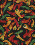 HOT CHILI PEPPERS - COTTON cover/airbed set-hot chili peppers, fiesta, red, green, yellow, black, mexican, mexico, cotton, natural fiber, pet bed, dog bed, cat bed, pet air bed, orthopedic support, veterinarian recommended, machine washable, machine dry slipcovers, apparel fabric, easy change, sustainable, eco-friendly, dog, cat, claw and nail proof, vet recommended, environmentally responsible, pet bed, dog bed, cat bed, natural nest, nesting area, long lasting, never compresses, replacement slipcovers, handcrafted, made in Michigan, made in USA, snazztastic, fashion covers, home decor, style, ARNO, Animal Rescue New Orleans