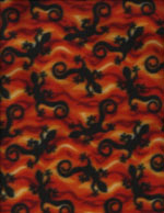 LIZARD FIRE - FLEECE cover/airbed set-lizards, reptiles, black, sienna, red, orange, fire, flames, fleece, polyester, pet bed, dog bed, cat bed, pet air bed, orthopedic support, veterinarian recommended, machine washable, machine dry slipcovers, apparel fabric, easy change, sustainable, eco-friendly, dog, cat, claw and nail proof, vet recommended, environmentally responsible, pet bed, dog bed, cat bed, natural nest, nesting area, long lasting, never compresses, replacement slipcovers, handcrafted, made in Michigan, made in USA, snazztastic, fashion covers, home decor, style, ARNO, Animal Rescue New Orleans