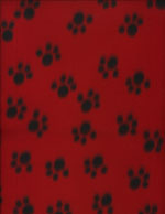 PAW PRINTS RED - FLEECE cover/airbed set