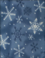 FROSTY SNOWFLAKES - FLEECE cover/airbed set
