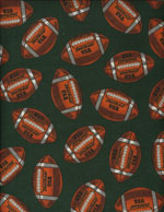 FOOTBALL USA - FLANNEL cover/airbed set-footballs, sports, green, flannel, cotton, natural fiber, pet bed, dog bed, cat bed, pet air bed, orthopedic support, veterinarian recommended, machine washable, machine dry slipcovers, apparel fabric, easy change, sustainable, eco-friendly, dog, cat, claw and nail proof, vet recommended, environmentally responsible, pet bed, dog bed, cat bed, natural nest, nesting area, long lasting, never compresses, replacement slipcovers, handcrafted, made in Michigan, made in USA, snazztastic, fashion covers, home decor, style, ARNO, Animal Rescue New Orleans