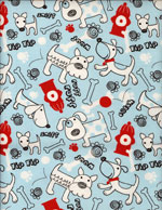 PUPS N HYDRANTS - FLANNEL cover/airbed set