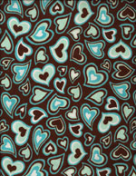 COOL CHOCOLATE HEARTS - FLANNEL cover/airbed set
