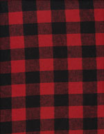 BUFFALO PLAID RED - FLANNEL cover/airbed set