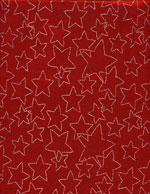 RED SPARKLY STARS - SILKY cover/airbed set