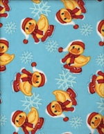 SNOW DUCKIES - FLANNEL cover/airbed set