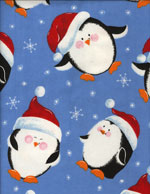 SANTA PENGUINS - FLANNEL cover/airbed set