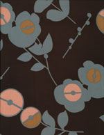 MODERN BROWN FLOWERS - SILKY cover/airbed set