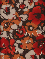 WARM FLORALS - SILKY cover/airbed set-florals, flowers, red, orange, brown, neutrals, botanicals, silky, polyester, pet bed, dog bed, cat bed, pet air bed, orthopedic support, veterinarian recommended, machine washable, machine dry slipcovers, apparel fabric, easy change, sustainable, eco-friendly, dog, cat, claw and nail proof, vet recommended, environmentally responsible, pet bed, dog bed, cat bed, natural nest, nesting area, long lasting, never compresses, replacement slipcovers, handcrafted, made in Michigan, made in USA, snazztastic, fashion covers, home decor, style, ARNO, Animal Rescue New Orleans