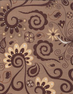 EARTHY FLORAL SWIRLS - SUEDECLOTH cover/airbed set
